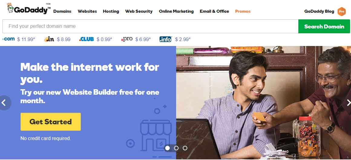 Godaddy - Cheap domain and Web Hosting with quality customer care