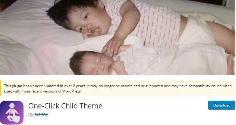 One-Click Child Theme - Child theme creation wordpress plugin