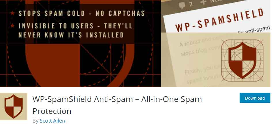 WP-SpamShield protect you from spams