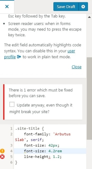 wordpress code syntax checker