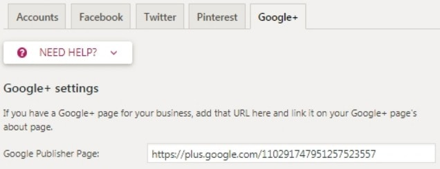Add Google+ URL on Yoast SEO plugin