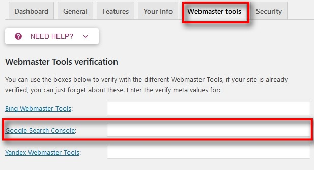 add html tag on Yoast seo