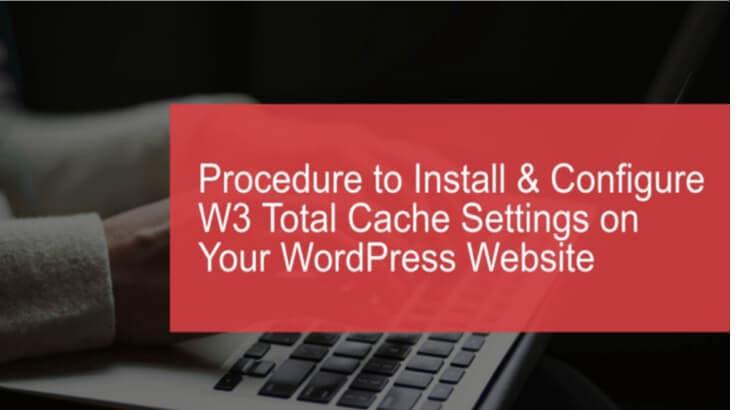 configure w3 total cache settings