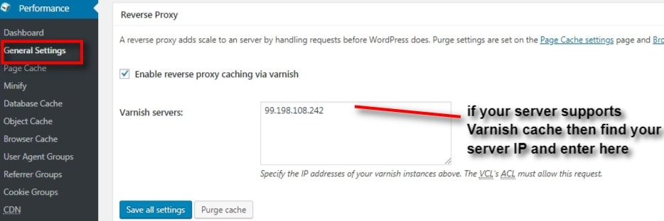 Procedure to Install & Configure W3 Total Cache Settings on