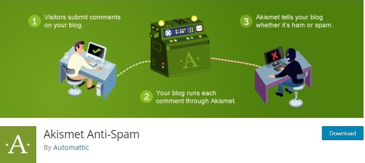 akismet comment anti spam wordpress plugin