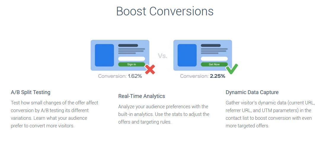 Convertful Boost Conversions