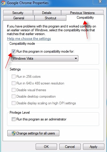 Run your browser in compatibility mode