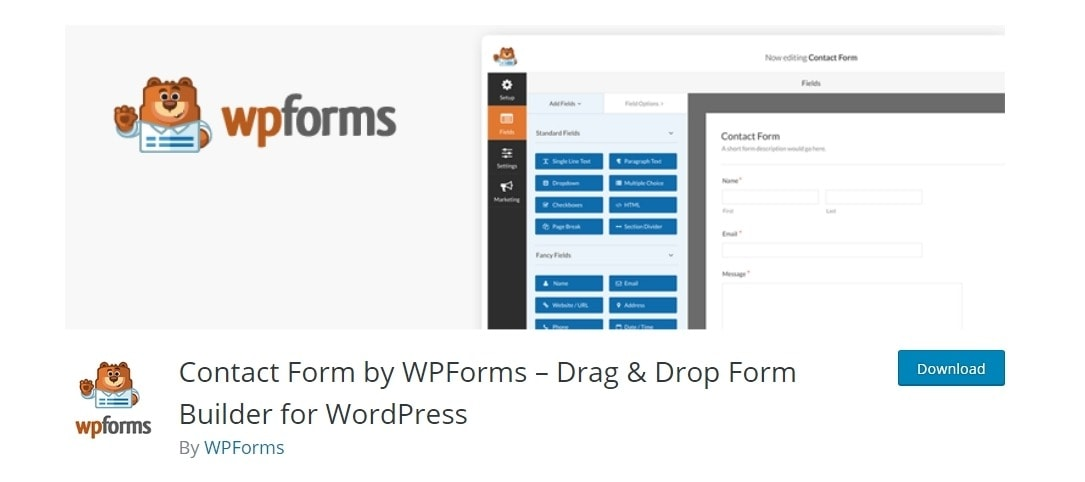 wpforms plugin for wordpress website