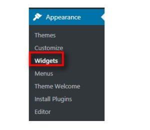 widget area