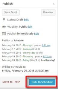 publish button
