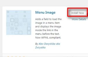 menu image plugin