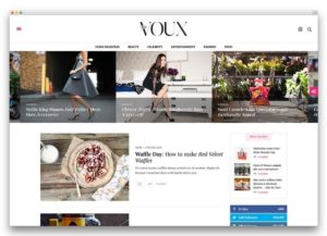 The Voux WordPress theme