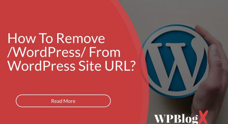 emove /wordpress/ From your WordPress Site URL