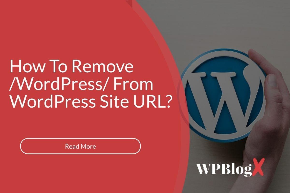 emove /wordpress/ From your WordPress Site URL