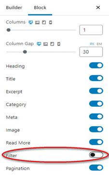 filter Post Order