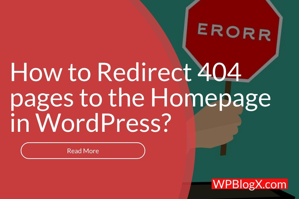 redirect 404 error to homepage