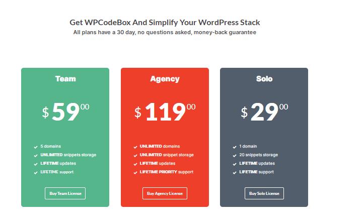 wpcodebox pricing