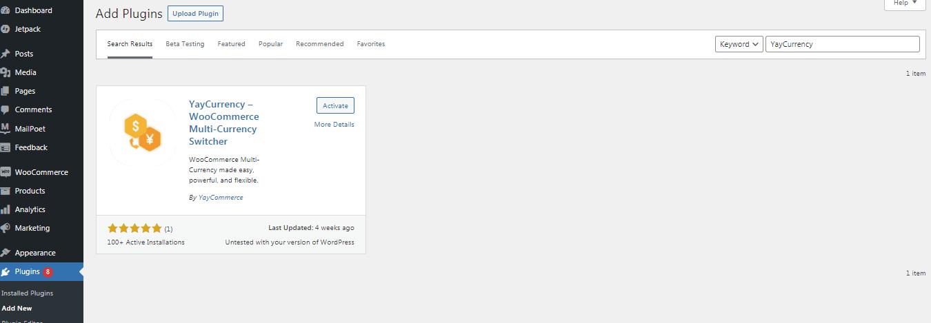 yaycurrency free plugin