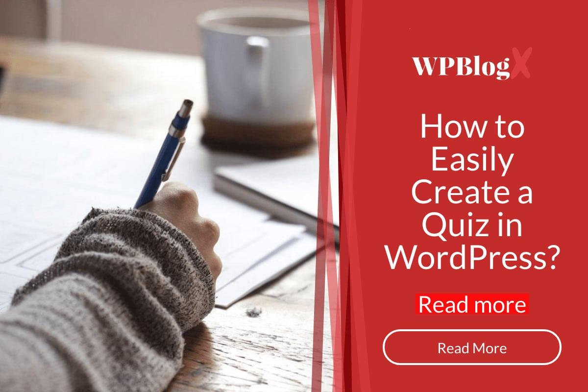 Create a Quiz in WordPress