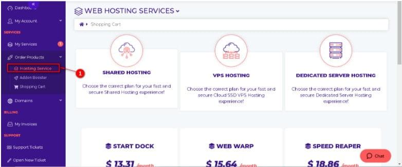 HostArmada - Hosting Service